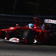 Fernando Alonso en la clasificación del GP de Italia 2012