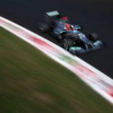 Michael Schumacher en la clasificación del GP de Italia 2012