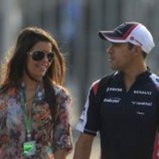 Pastor Maldonado y su pareja