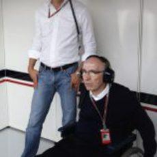 Frank Williams y Toto Wolff