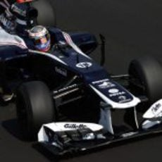 Pastor Maldonado pilota en Monza