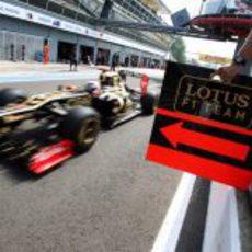 Kimi Räikkönen sale a pista