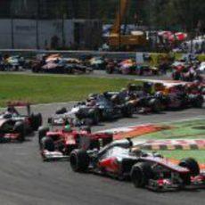 Salida del GP de Italia 2012