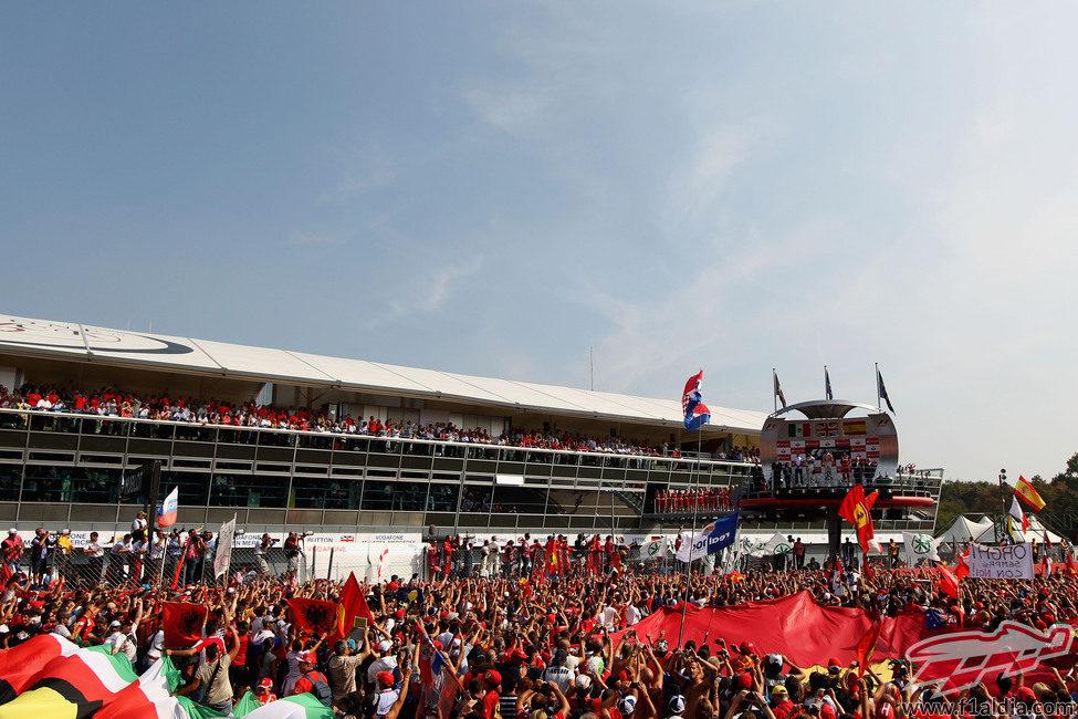 Visión general del podio del GP de Italia 2012
