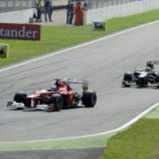 Fernando Alonso terminó tercero el Gran Premio de Italia 2012