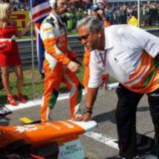 Vijay Mallya, presente en el Gran Premio de Italia