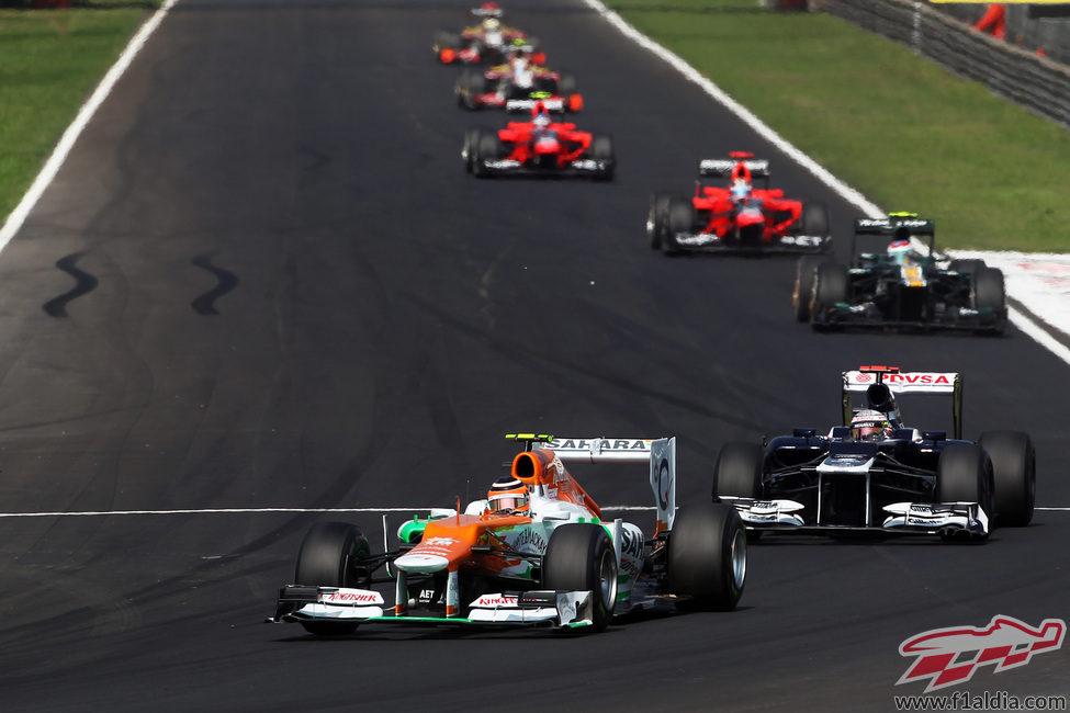 Nico Hülkenberg, por delante de Pastor Maldonado