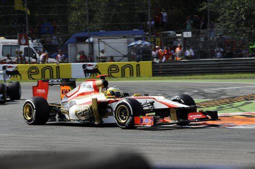 Pedro de la Rosa terminó sin problemas su GP número 100