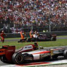 Pedro de la Rosa completó las 53 vueltas del GP de Italia 2012