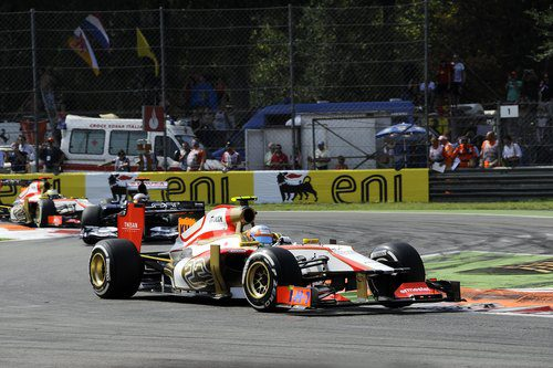 Narain Karthikeyan completa el GP de Italia 2012