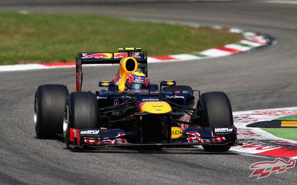Mark Webber tuvo que abandonar en el GP de Italia 2012