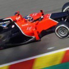 Timo Glock no tuvo muy buen fin de semana en Spa