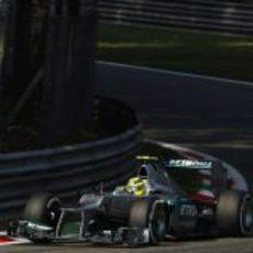 Nico Rosberg clasificó 7º en el GP de Italia 2012
