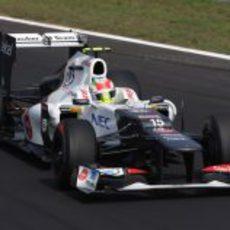 Sergio Pérez se quedó en la Q2 en Monza