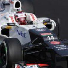 Kamui Kobayashi clasificó noveno en Italia
