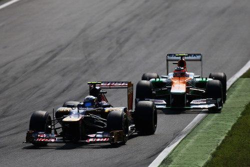 Jean-Eric Vergne mantiene posición con Nico Hülkenberg en Monza