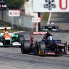 Jean-Eric Vergne no terminó el GP de Italia 2012