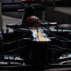 Heikki Kovalainen cayó en la Q1 de la clasificación de Italia