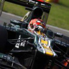 Heikki Kovalainen rueda con el CT01 en los Libres 3 del GP de Italia