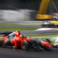 Charles Pic 'vuela' en el 'Templo de la velocidad'
