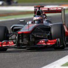 Jenson Button empezó bien y terminó mal el GP de Italia 2012