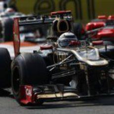 Kimi Räikkönen conduce el E20 en la carrera de Monza
