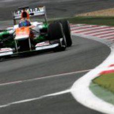 Rodolfo González al volante del Force India VJM05