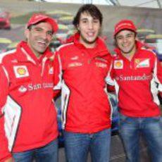 Marc Gené, Patrick Gobbo y Felipe Massa