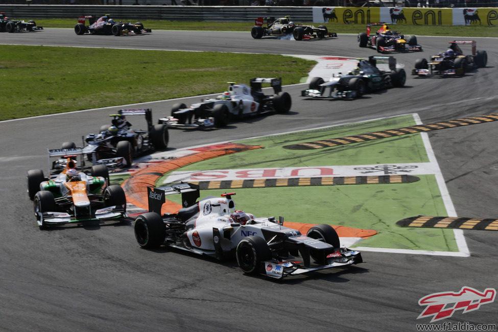 Kamui Kobayashi encabeza este peculiar grupo en Monza