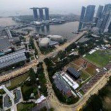 Circuito de Singapur de día