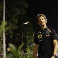 Romain Grosjean vuelve a pilotar