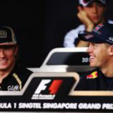 Räikkönen y Vettel en la rueda de prensa de la FIA del jueves
