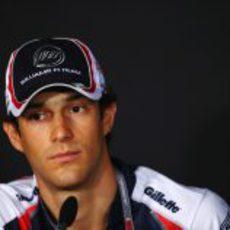 Bruno Senna en la rueda de prensa de la FIA del jueves en Singapur