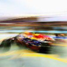 Mark Webber sale a pista en los libres de Marina Bay