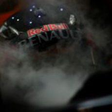 "Sebastian Vettel ""está que echa humo"" en Singapur"