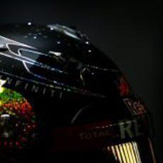 El casco especial con LEDs de Sebastian Vettel en Singapur