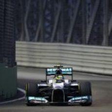 Nico Rosberg durante los libres del GP de Singapur