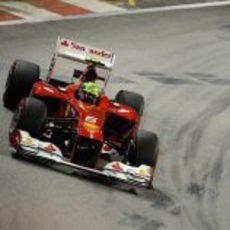 Felipe Massa prueba el trazado de Marina Bay