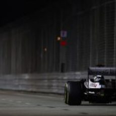 Pastor Maldonado afronta la recta más larga