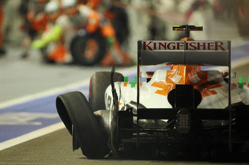 Pinchazo para Nico Hülkenberg en la parte final de la carrera
