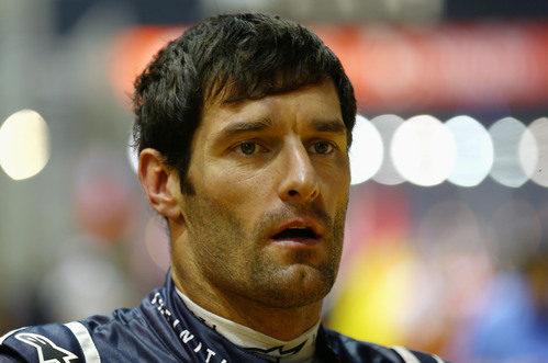 Mark Webber se quedó sin sumar puntos en Singapur