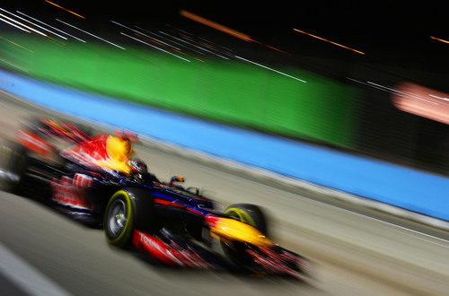 Sebastian Vettel voló hacia la victoria en Singapur