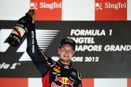 Sebastian Vettel ganó el GP de Singapur 2012