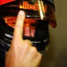 Sebastian Vettel volvió a enseñar su dedo en Singapur