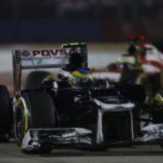 Bruno Senna perdió el KERS a final del GP de Singapur 2012