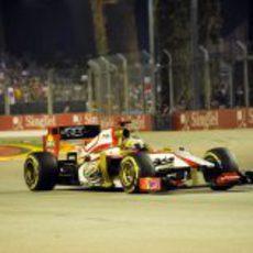 Pedro de la Rosa llevó a su F112 hasta el final de la carrera