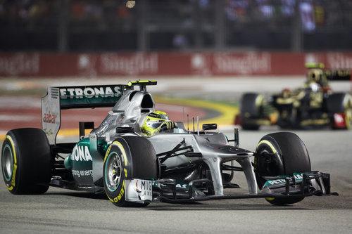 Nico Rosberg terminó la carrera de Singapur en quinta posición