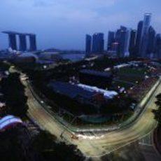 Plano amplio de la ciudad de Singapur