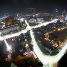 Espectacular imagen del trazado de Singapur