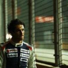 Bruno Senna triste en la noche de Singapur